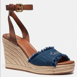 Coach Kelly Denim Wedge